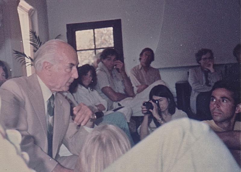 Albert Hofmann with attendees