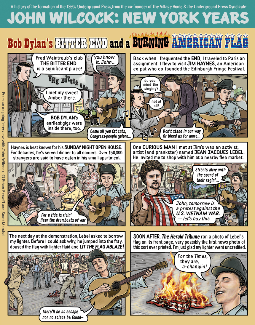Bob Dylan and a Burning American Flag by Ethan Persoff and Scott Marshall