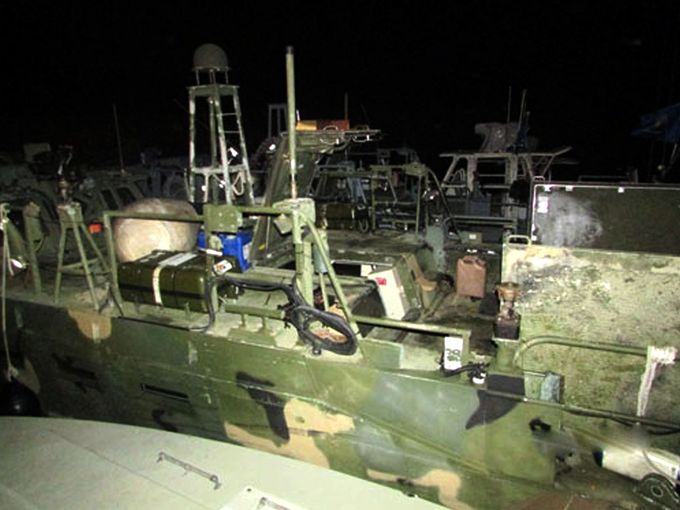 Photo released by Iranian Revolutionary Guards on  Jan. 13, 2016, shows detained US Navy ships.  Sepahnews via navytimes.com