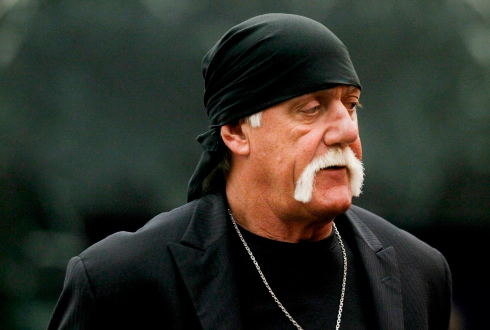 Terry Bollea, aka Hulk Hogan, arrives for his trial against Gawker Media, in St Petersburg, Florida March 17, 2016.  REUTERS Reuters