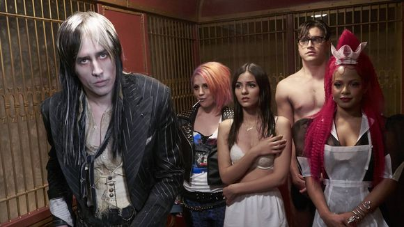 L-R: Reeve Carne, Annaleigh Ashford, Victoria Justice, Ryan McCartan and Christina Milian are in the new 'Rocky Horror,' which airs on Halloween. (Photo: Fox)