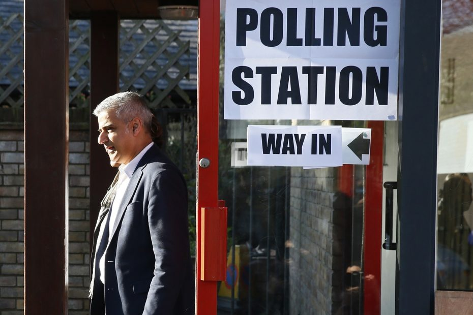 Sadiq Khan, Britain's Labour Party candidate for Mayor of London and his wife Saadiya leave after casting their votes for the London mayoral elections at a polling station in south London Britain May 5, 2016. REUTERS