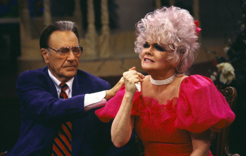 Jan Crouch, right, co-founder of Trinity Broadcasting Network [TBN]