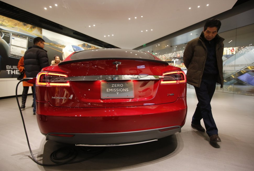 A Tesla Model S being charged. Reuters