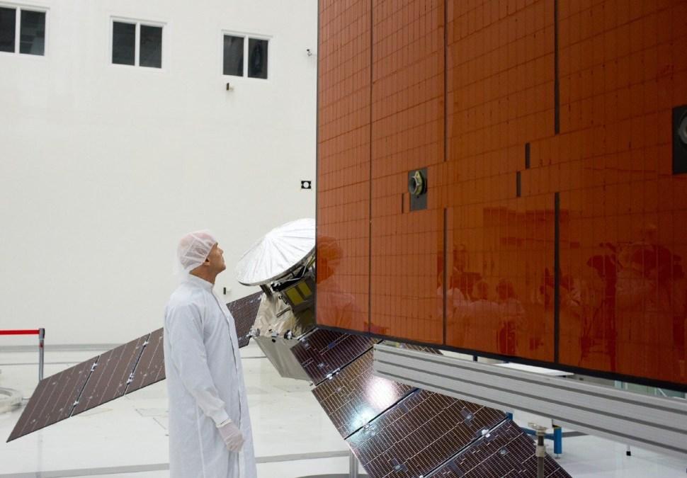 Stuart Stephens and Juno's Solar Panels. Photo: Katherine Leipper.