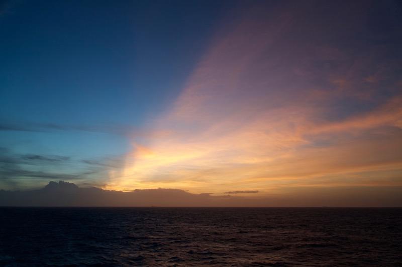Sunset, July 1, 2016, east of Sri Lanka