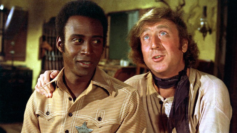 """Gene Wilder (right) starred with Cleavon Little in """"Blazing Saddles."""" Warner Bros./Courtesy Neal Peters Collection"""