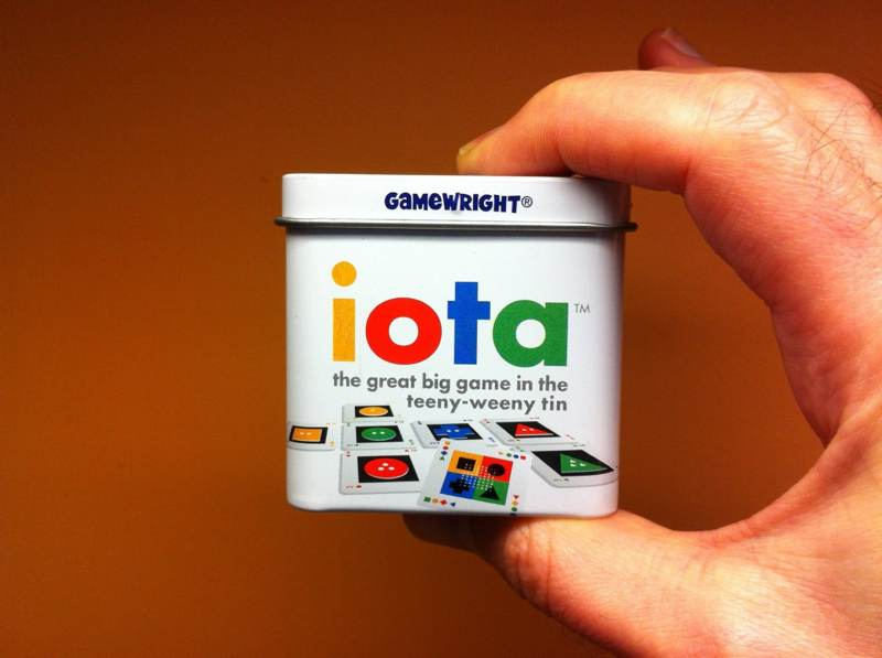 Iota — a fun card game that comes in a small tin box