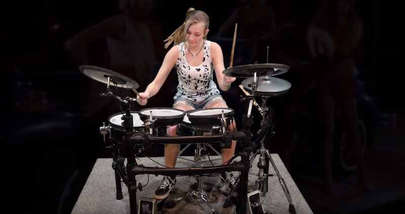 Watch This Teen Drummer Show Her Amazing Skills On A Van Halen Cover Boing Boing