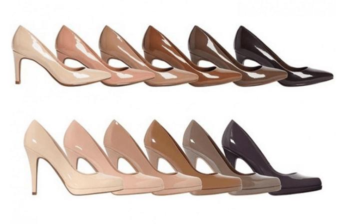 British retailer offers 'nude' heels in