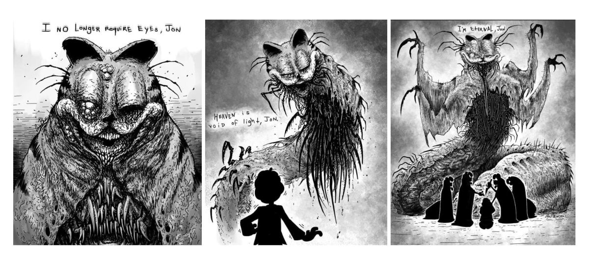 Collection Of Garfield Based Cosmic Horror Boing Boing