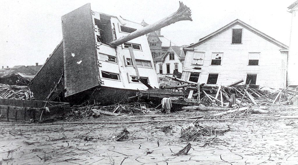 In 1889, a dam failure sent a disastrous flood descending on Johnstown, Pennsylvania