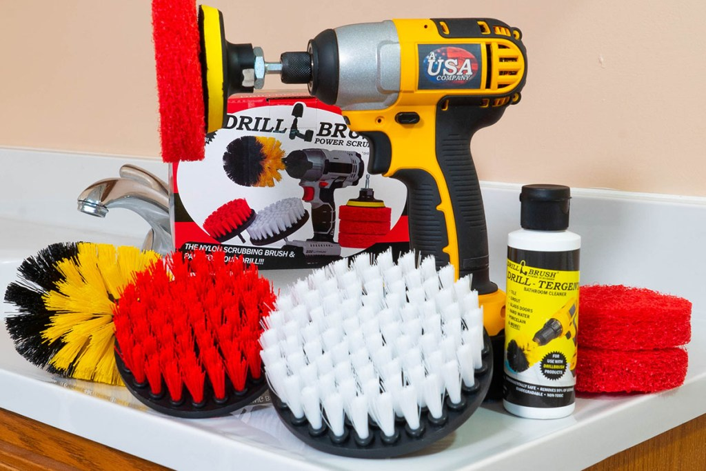This brush set enlists your power drill in the war on germs and dirt