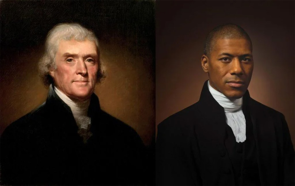 Thomas Jefferson photo recreation by his sixth great-grandson