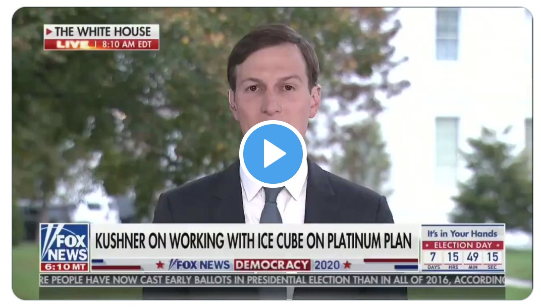 """Kushner says Trump can't help Black people who don't """"want to be successful"""""""