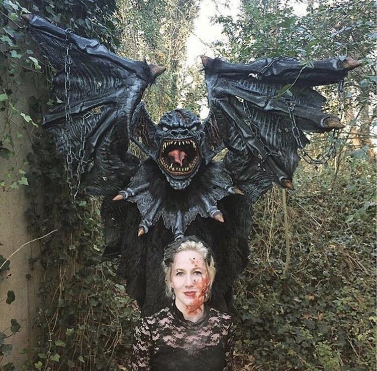 Margaret Rolicki and bat prop