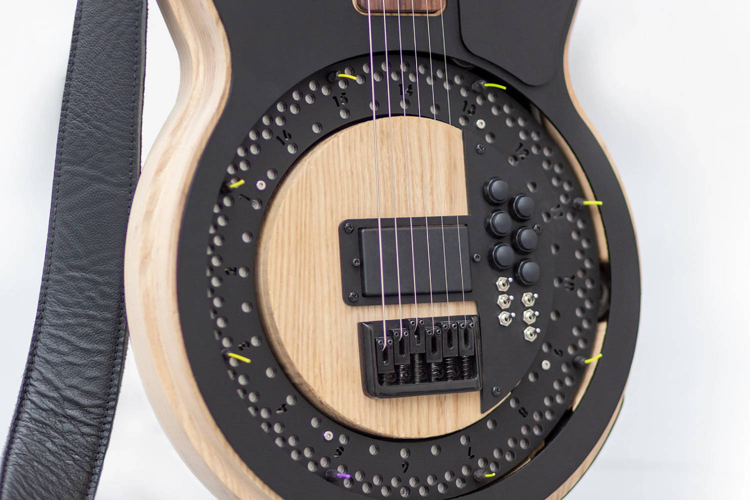 """Photo of a """"Circle Guitar"""", taken by Anthony Dickens"""