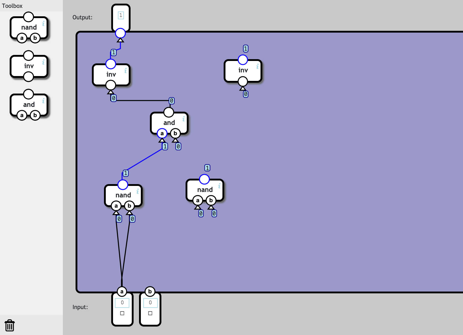 "Screenshot of ""the Nand Game"""