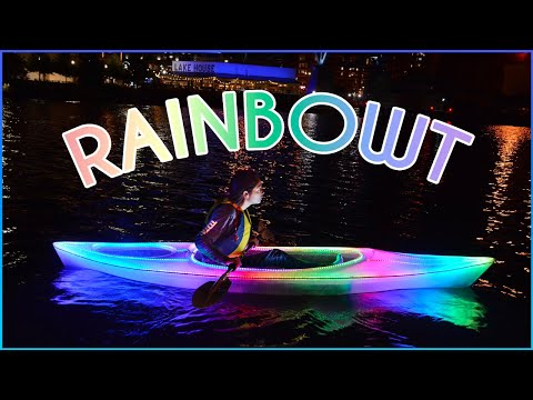 Xyla Foxlin makes a clear kayak with LED lights