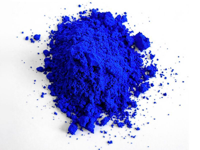 Photo of YInMn Blue powder, by Oregon State University