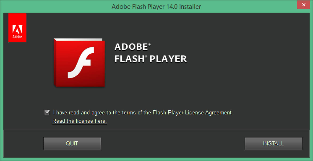 Screenshot of dialog box asking to uninstall Flash