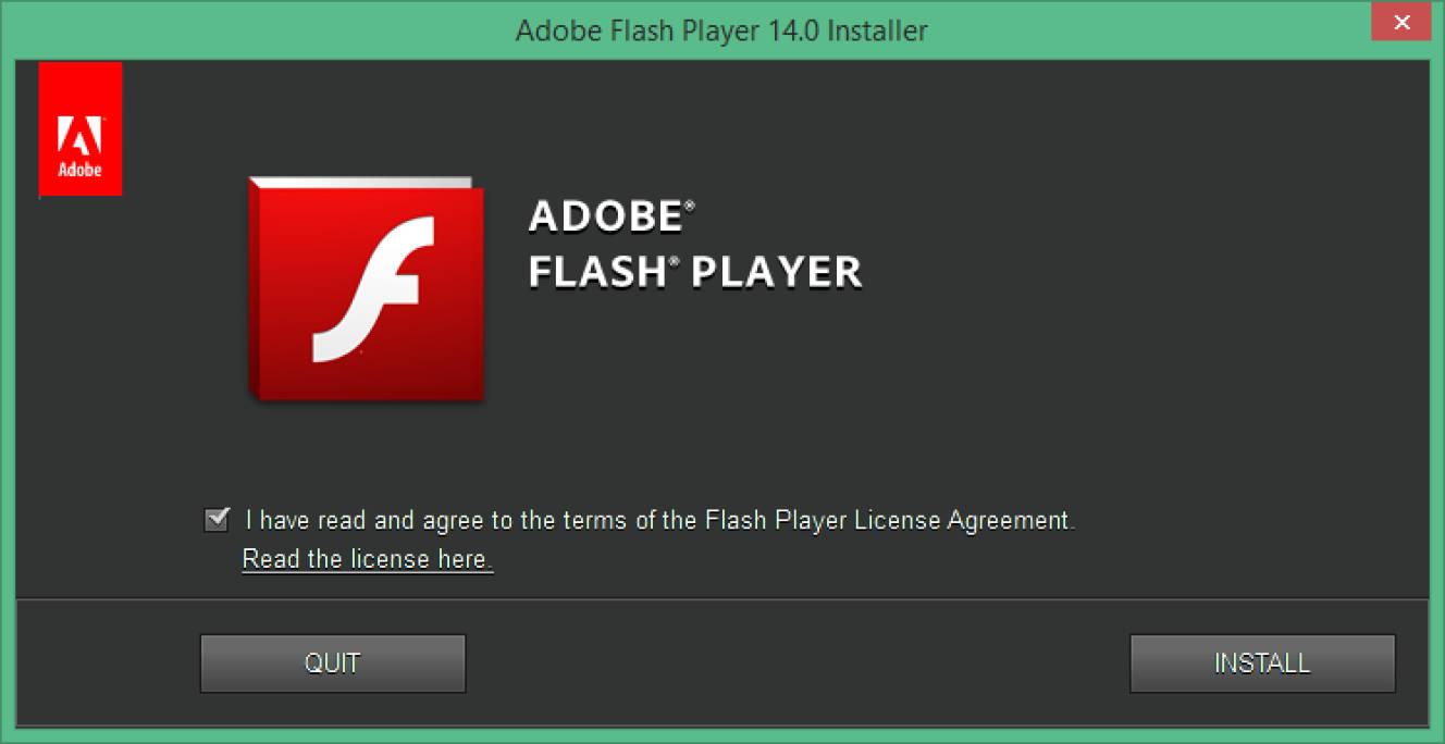 Screenshot of dialog box asking to uninstall Flash