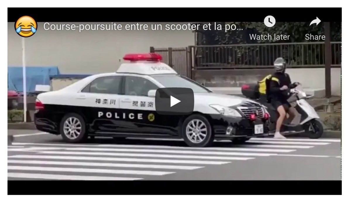 Scooter rider evades police in Japan   Boing Boing