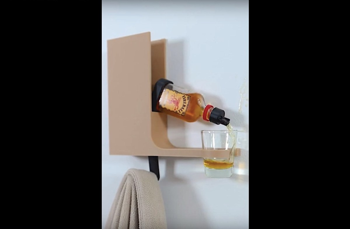 The coat hook that pours you a shot when you get home | Boing Boing