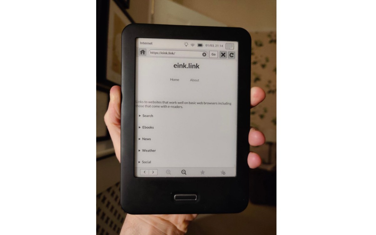 eink.link is a website directory for e-readers | Boing Boing