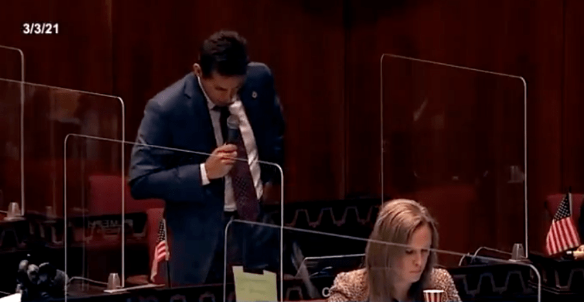 Watch: Arizona State Rep. Joseph Chaplik asks why no one was talking about masks during the AIDS epidemic