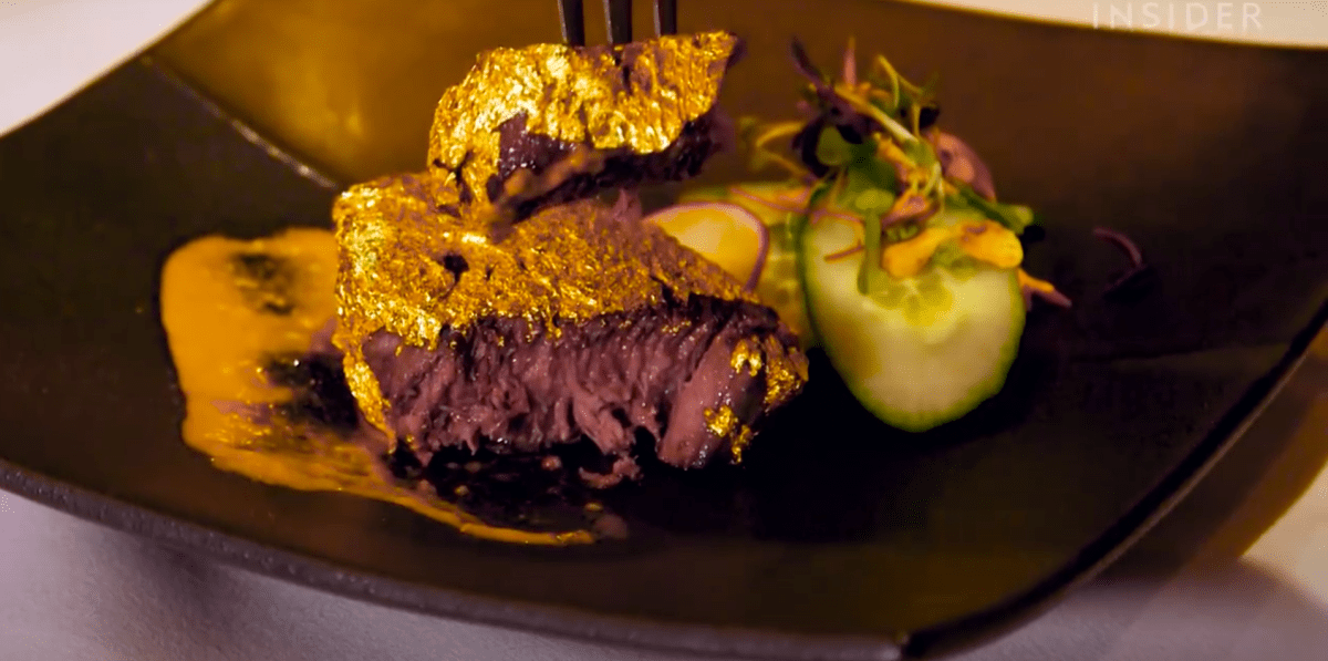 Have you ever wanted to spend $1000 to eat a wagyu steak coated in 24-karat gold? Now you can! | Boing Boing