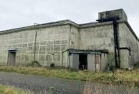 large grey bunker