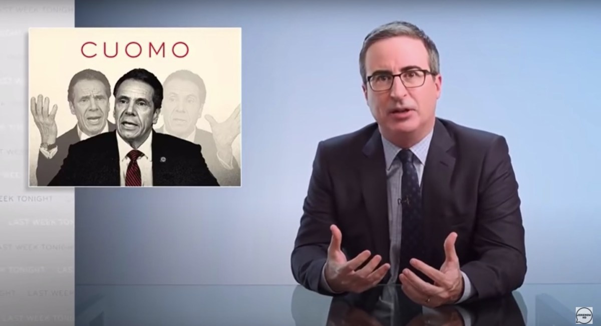 John Oliver skewers Andrew Cuomo and asks, 'What the f**k is wrong with you?' | Boing Boing
