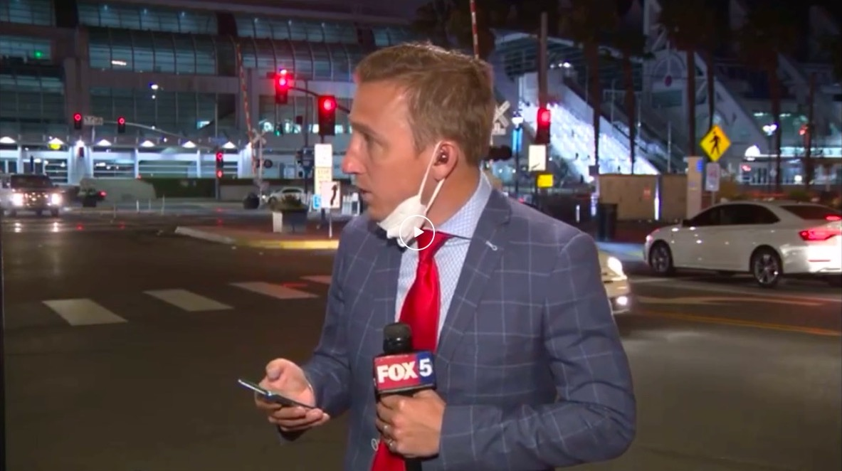 Watch: Fox live reporting on Comic Con news interrupted by police shooting across the street