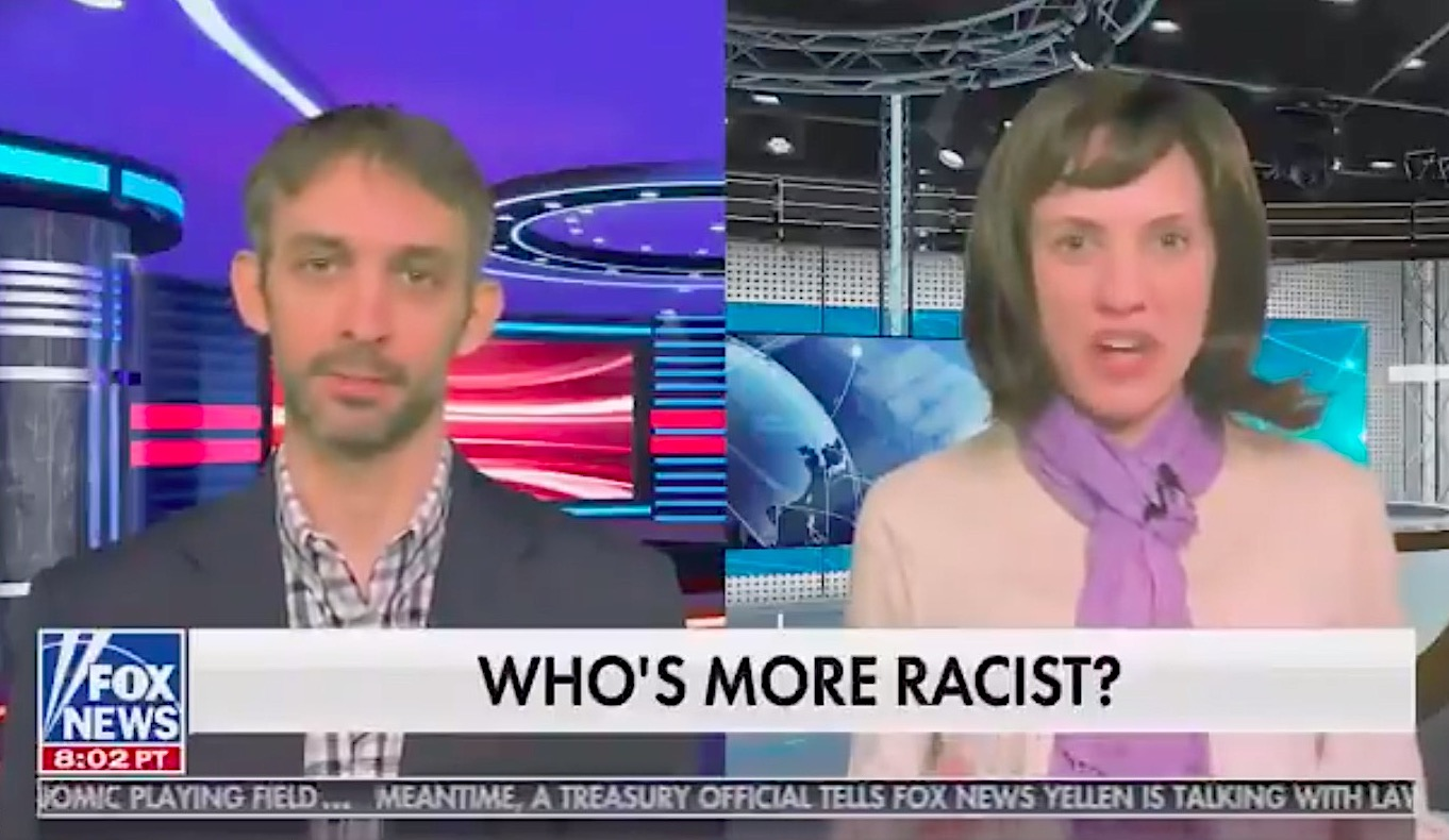 "Oof. Fox's new show Gutfeld! tells same ""you're a racist"" joke 3 nights in a row"