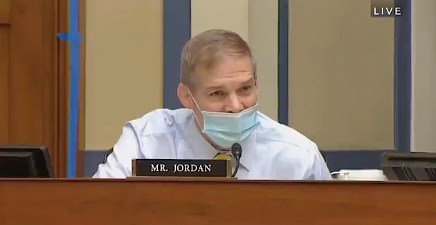 Watch an angry Jim Jordan blast Dr. Fauci as if he's responsible for Covid. The doctor never loses his cool