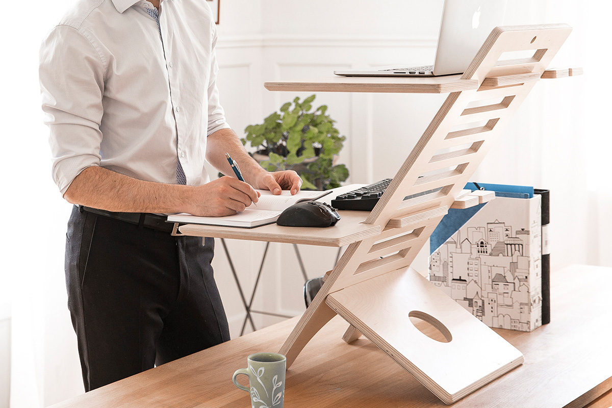 The DeskStand delivers an adjustable standing desk experience without a new desk