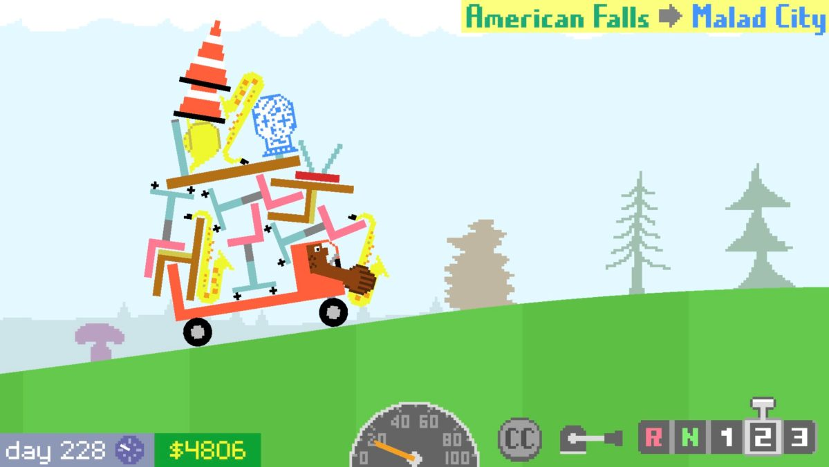In this game you are a bear driving a truck loaded with cargo | Boing Boing