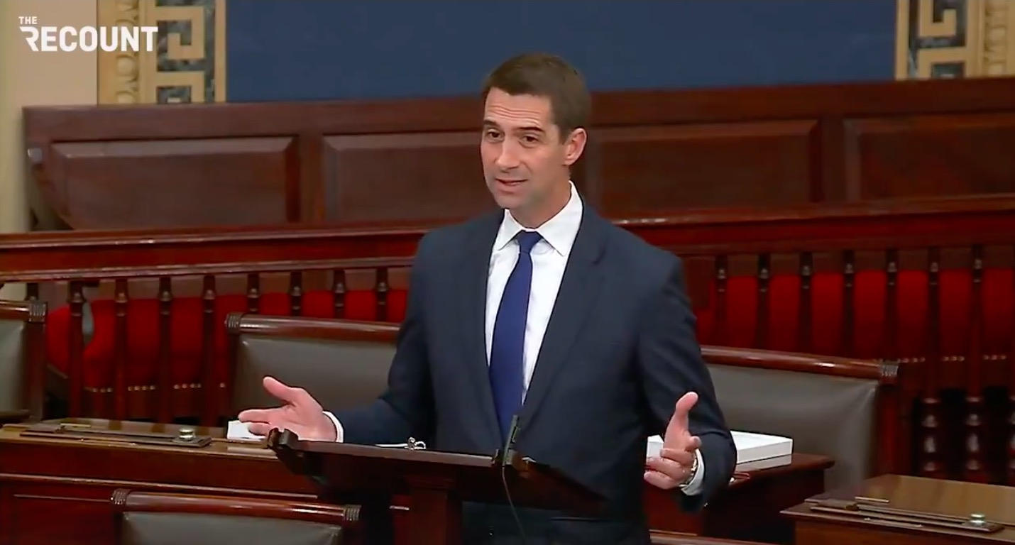 Senator Tom Cotton accuses AP of being in cahoots with Hamas after office bombing