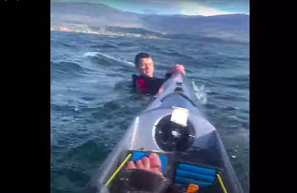 """Watch kayaker rescue a struggling man: """"His eyes started closing"""""""
