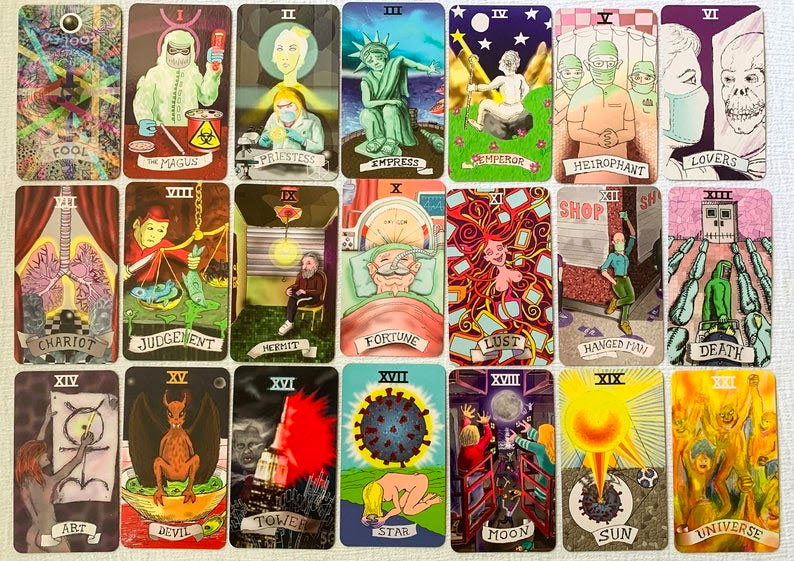 A tarot deck from the age of corona