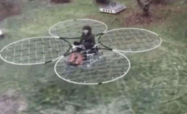 Darwin award candidate flies homemade drone contraption