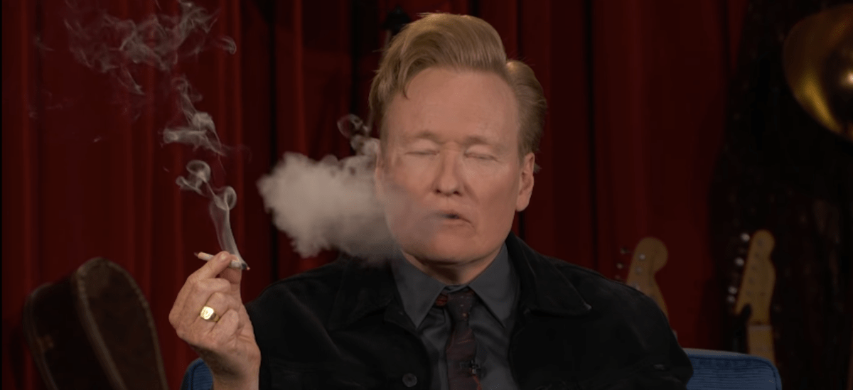Conan O'Brien tokes up on his show with Seth Rogen | Boing Boing