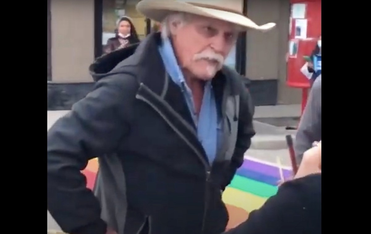 Angry gentleman has a fit over a painted Pride crosswalk | Boing Boing