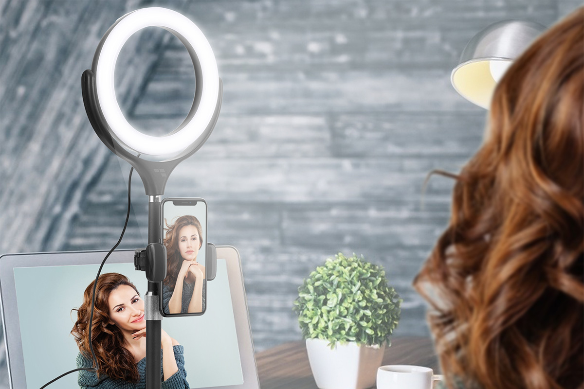 Make your video calls look more professional with this LED ring light and tripod
