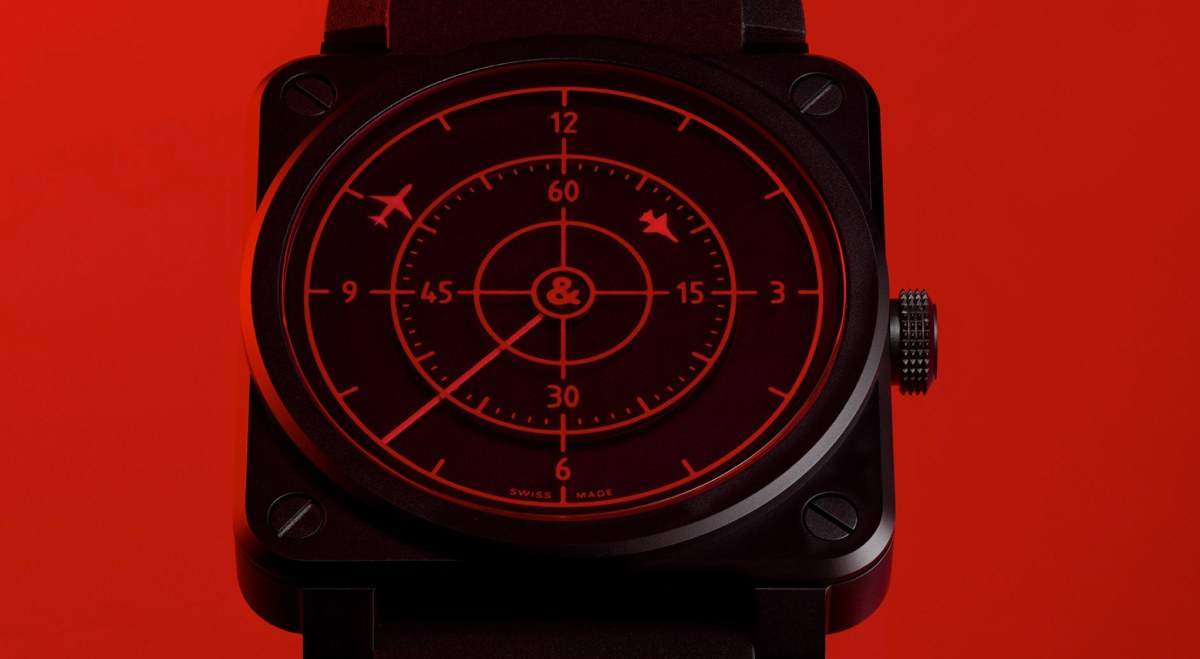 Minimalist and striking Bell & Ross watch's dial looks like a radar screen | Boing Boing