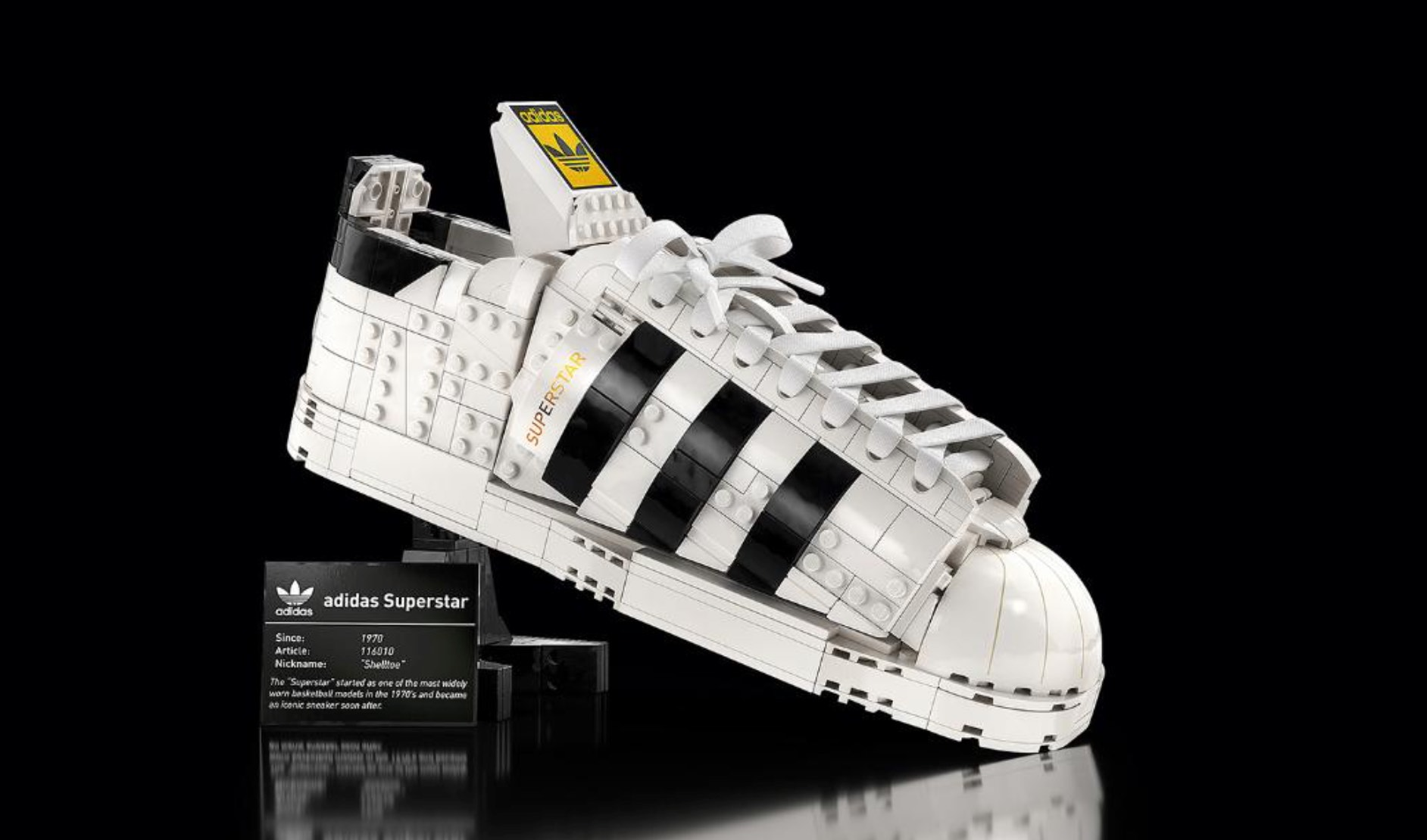 Check out LEGO's new model of Adidas Superstar sneakers