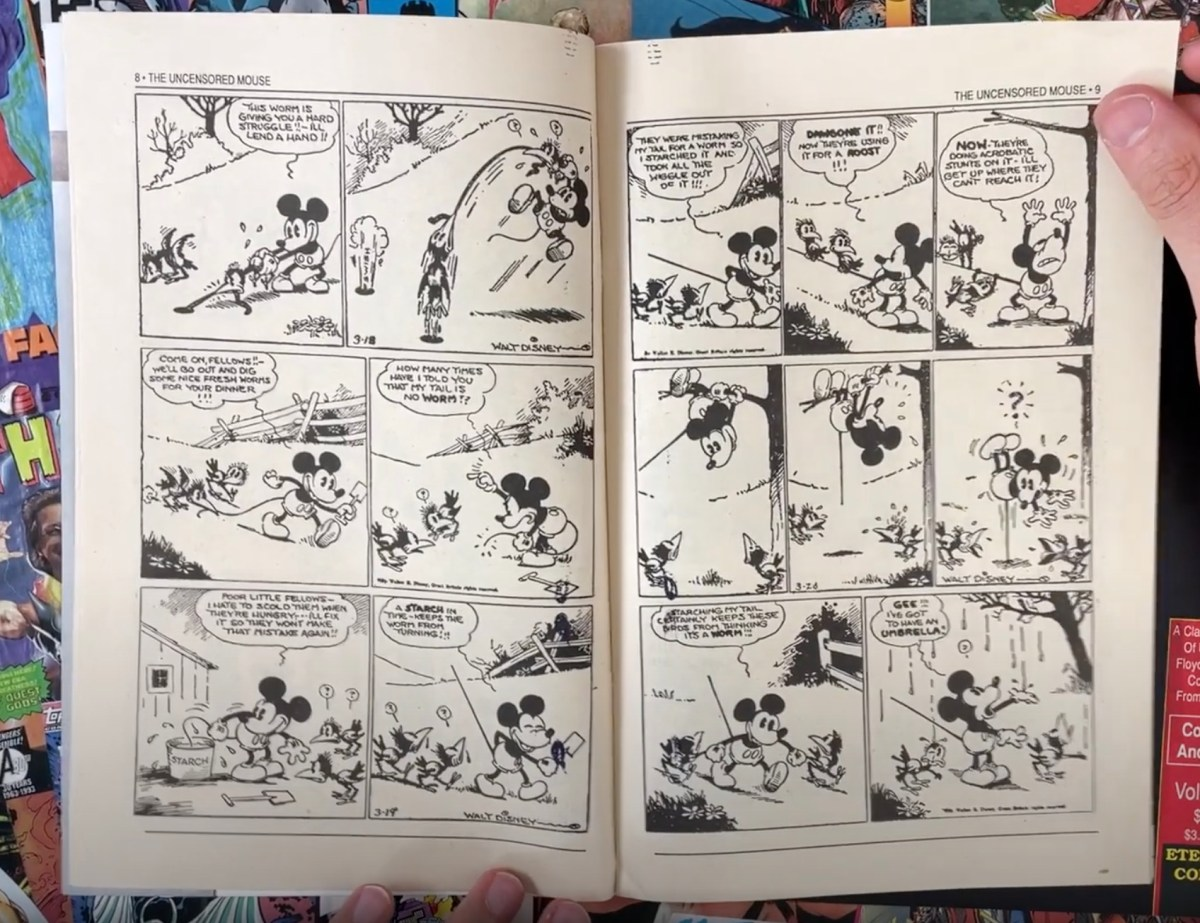 Comic book features questionably public domain Mickey Mouse comics from the 1930s, complete with suicidal gunplay and racist imagery | Boing Boing