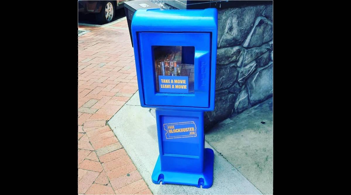 """Photo of """"free blockbuster"""" box"""