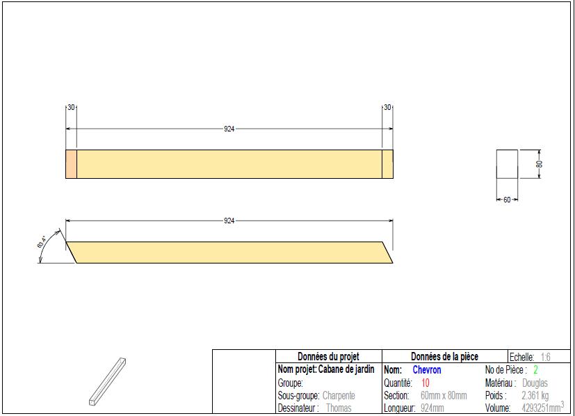 Comment lire un plan d'une pièce de bois